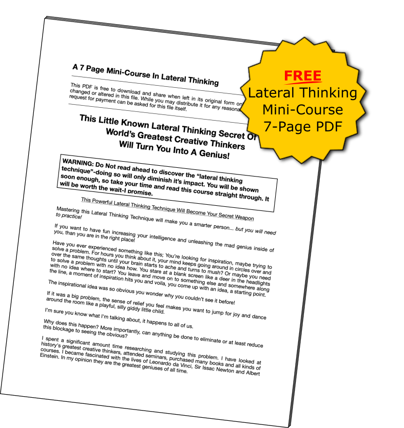 Lateral thinking Mini Course 7-Page PDF Download